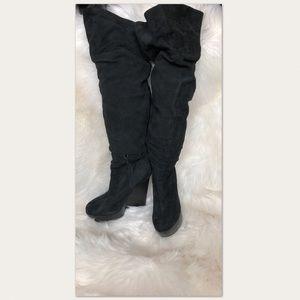 Aldo Suede Knee High Boots Black Size 11 US 41 EU